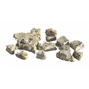 JG Miniatures - S46B - Pack of small green  grey rocks (paquet de petites pierres vertes  grises)