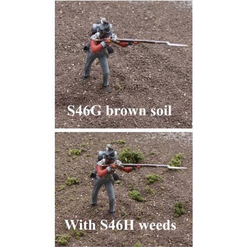 JG Miniatures - S46G  & S46H - Plastic soil (sol en matière plastique)