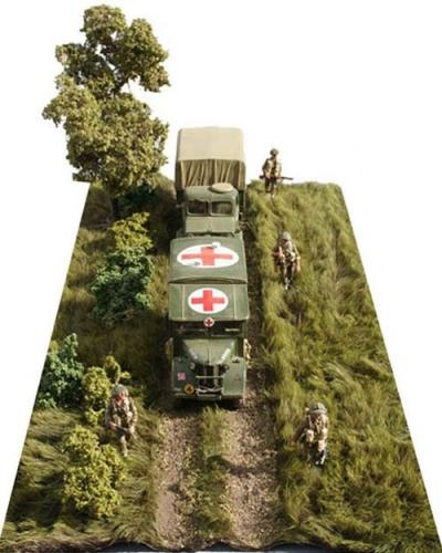 JG Miniatures - TM02 - Long grass mat with dirt track
