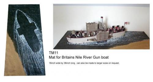 JG Miniatures - TM11 - Gun Boat Mat