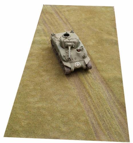 JG Miniatures - TM14 - Short grass with tank tracks