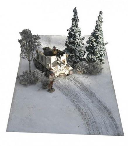 JG Miniatures - FM4 - Snow mat with tank tracks