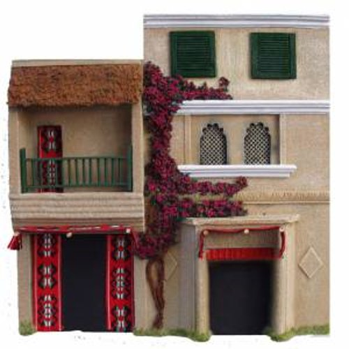 JG miniatures - N04 - 2 storey asian or indian building with louvre windows