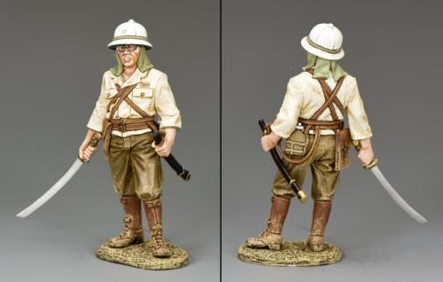 JN027 - Japanese Standing Officer with Sword Drawn