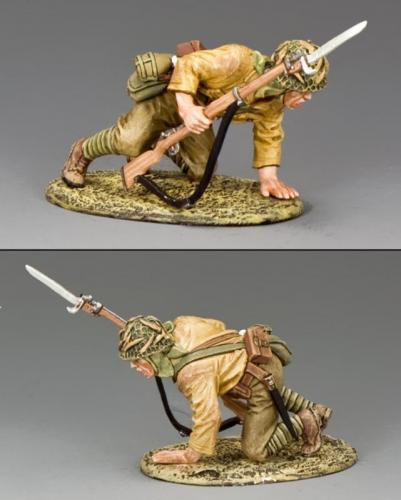 JN037 - Japanese Crouching Soldier