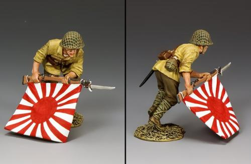 JN050 - Japanese Charging Flagbearer