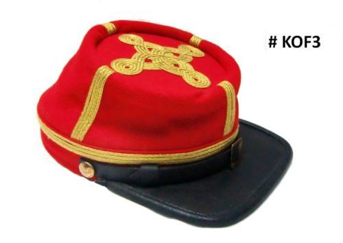 KOF3 - Képi d'officier (4 lignes brodées) pour marcheurs - EN STOCK (taille M = 56/57 et L = 58/59)