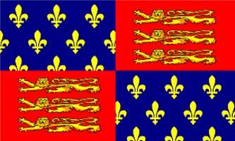 King Edward III Flag - Drapeau du Roi Edward III d'Angleterre (13 Nov. 1312 - 21 Juin 1377)