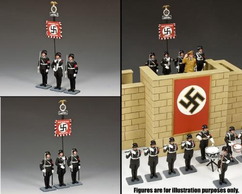LAH242 - The Leibstandarte Adolf Hitler Standard Set (Set of 3 soldiers)