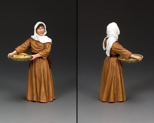 LOJ048 - Woman Carrying Bread