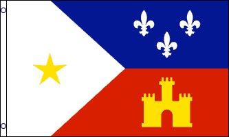 Louisiana Acadiana Flag - Drapeau de l'Acadiane, aussi appelée Pays Cadien, est une  region du sud de la  Louisiane occupée par les Cajuns français - EN STOCK
