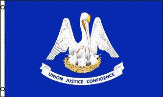 Louisiana Flag - Drapeau de l'état américain de la LOUISIANE - EN STOCK