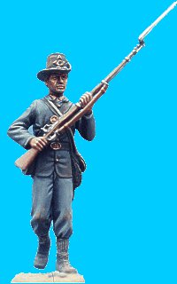M20 - Iron Brigade - Sack coat, hardee hat walking rifle at ready. 54mm Union infantry (unpainted kit) - EN STOCK