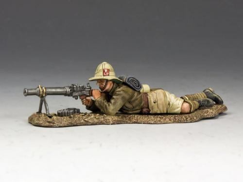 ME006 - Lying Prone Lewis Gunner (Lancashire Fusiliers, Middle East Campaign)
