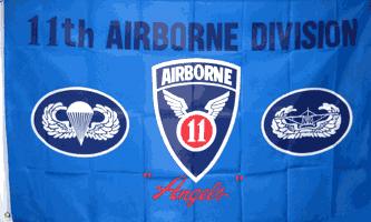 MF023 - 11th Airborne Division Flag - Drapeau de la 11ème Airborne Division