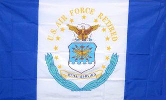 MF032 - U.S. Air Force Retired Flag - Drapeau des vétérans de l'armée de l air américaine