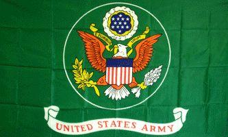 MF037 - U.S. Army Green Flag - Drapeau de l'armée américaine (vert)