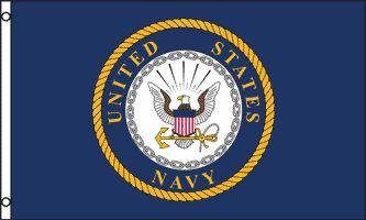 MF083 - U.S. Navy Emblem Flag - Drapeau de l'US Navy