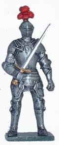 Knight with full Armour - EN STOCK (peint)