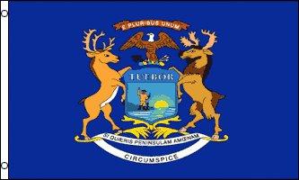 Michigan Flag - Drapeau de l'état américain du MICHIGAN - EN STOCK