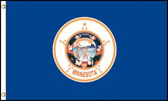Minnesota Flag - Drapeau de l'état américain du MINNESOTA - EN STOCK