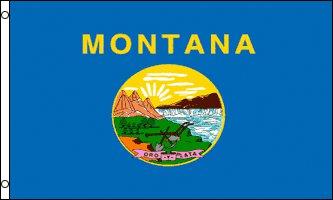 Montana Flag - Drapeau de l'état américain du MONTANA - EN STOCK