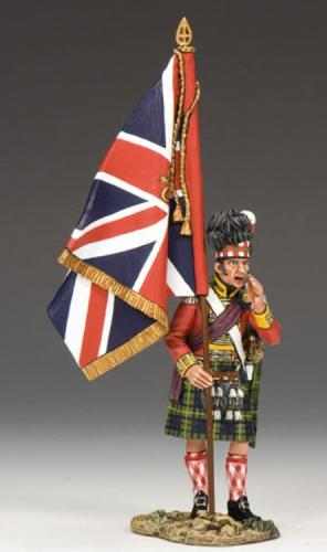 NA214 - Gordon Highlanders Officer with the King's Colour
