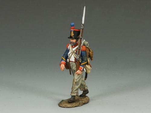 NA234 - French Line Marching Rifleman (with beard)
