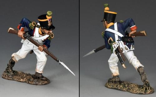 NA280 - French Voltigeur Charging with Bayonet