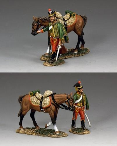 NA301 - Hussar Walking with Horse