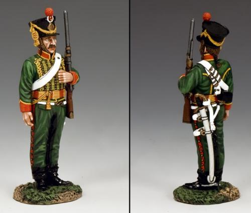 NA314 - Standing Hussar in Campaign Dress on Guard and on Duty