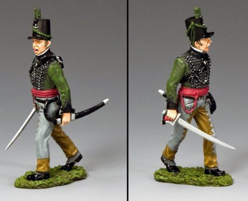 NA386 - British 95th Rifles Officer with Sabre