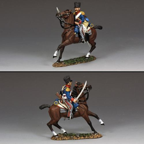 NA429 - King German Legion (KGL) Dragoon Advancing at the Gallup - disponible début mai