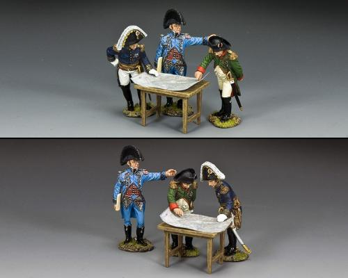 NA448 - Planning the Battle (Napoléon with a senior Ordnance officer and one of his Generals de Brigade)