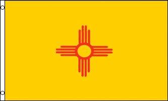 New Mexico Flag - Drapeau de l'état américain du NOUVEAU MEXIQUE - EN STOCK