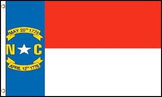 North Carolina Flag - Drapeau de l'état américain du la Caroline du Nord - EN STOCK