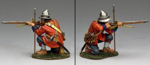 PnM027 - Parliamentary Musketeer Kneeling Firing