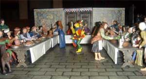 Middle Ages - le banquet vue générale - pas en stock