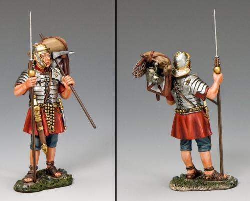 ROM011 - Standing Legionary with Marius Mule