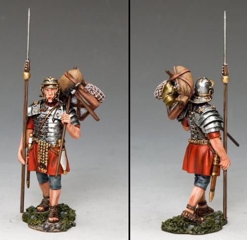 ROM013 - Marching Legionary with Marius Mule