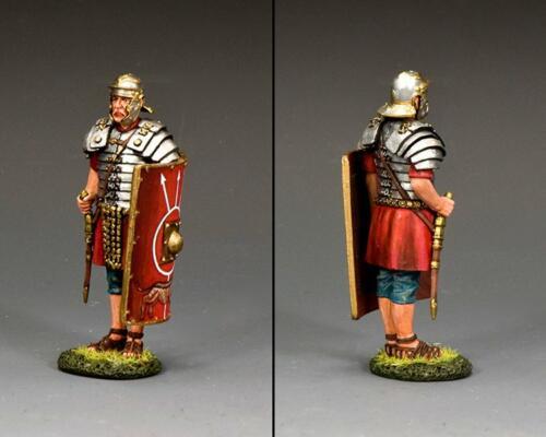 ROM048 - At Attention Roman Legionary with Gladius Sword