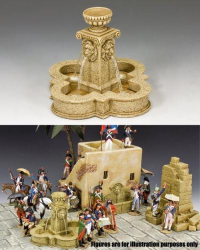 SP072 - Four Lions Town Fountain (Sandstone)