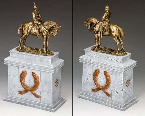 SP084-GR - Kaiser Wilhelm II on Large Equestrian Statue Plinth (Greystone) (SP075  SP084)