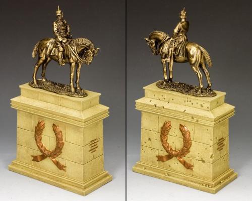 SP084-SA - Kaiser Wilhelm II on Large Equestrian Statue Plinth (Sandstone) (SP079 + SP084)