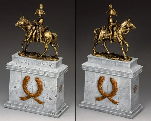 SP088-GR - Mounted Russian Officer on Large Equestrian Stutue plinth (Greystone) (SP075  SP088)