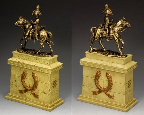 SP088- SA - The Mounted Russian Officer on Large Equestrian Statue Plinth (Sandstone) (SP079 + SP088)