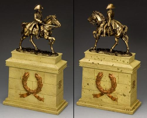 SP089-SA - Mounted Napoleon (Bronze) with Large Equestrian Statue plinth (Sandstone)
