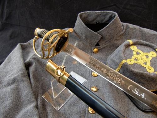 Sabre ACW - SLK4 - Sabre d'officier de cavalerie sudiste (Civil war CSA Cavalry Officer's Sword) - EN STOCK