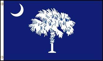 South Carolina Flag - Drapeau de l'état américain de la CAROLINE du SUD - EN STOCK