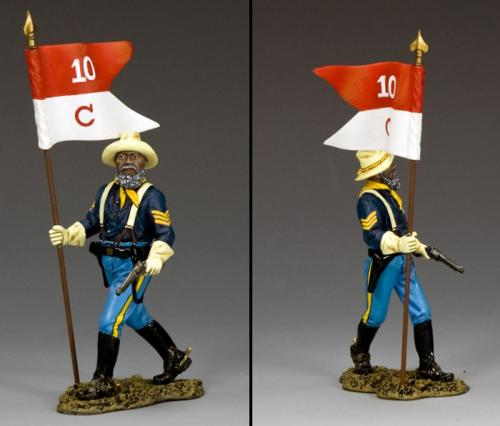TRW116 - Buffalo Soldiers Sergeant with Guidon